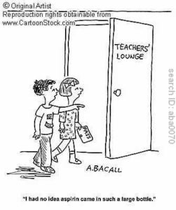 Friday Funny – Funny Cartoons About Teacher Stress
