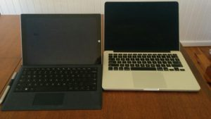 Surface pro 3 Compared to the MacBook Pro