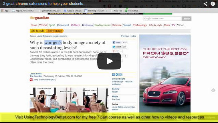 3 great Chrome extensions to help your students interact with text on websites