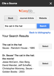 Using EasyBib Bibliography Creator in Google Docs