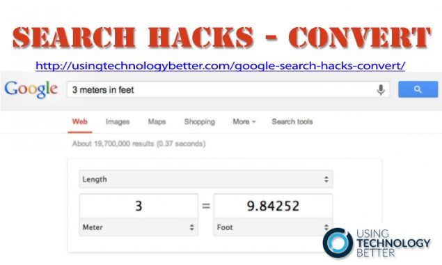 Google Search Hacks – How to Easily Convert Units of Measurment
