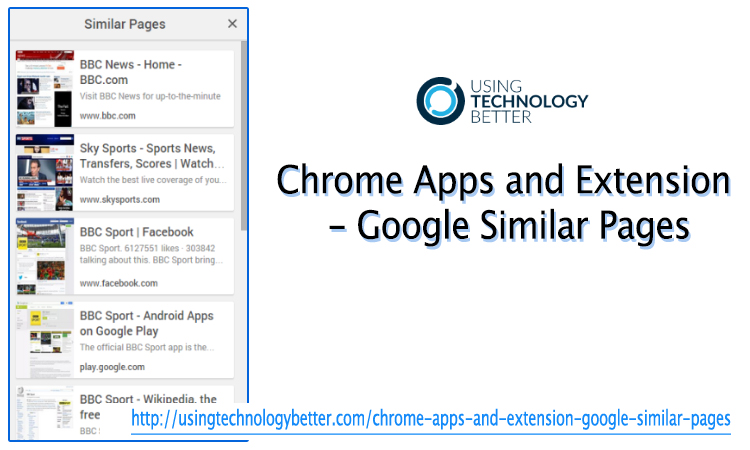 Chrome Apps and Extensions—Google Similar Pages