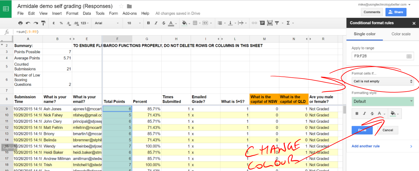 Conditional formatting in Google sheets - adding rules