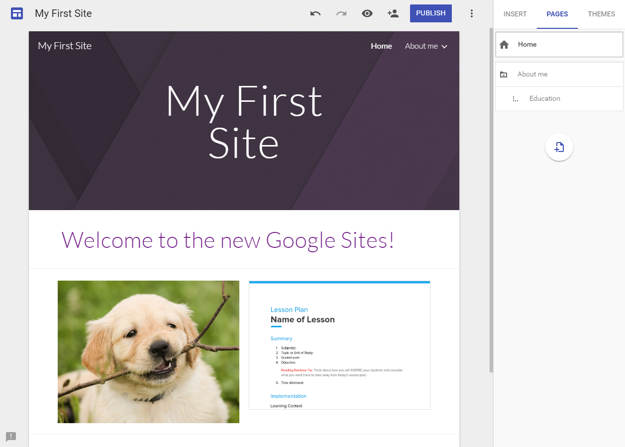What does the new Google Sites have to offer and how does it compare to the classic version?
