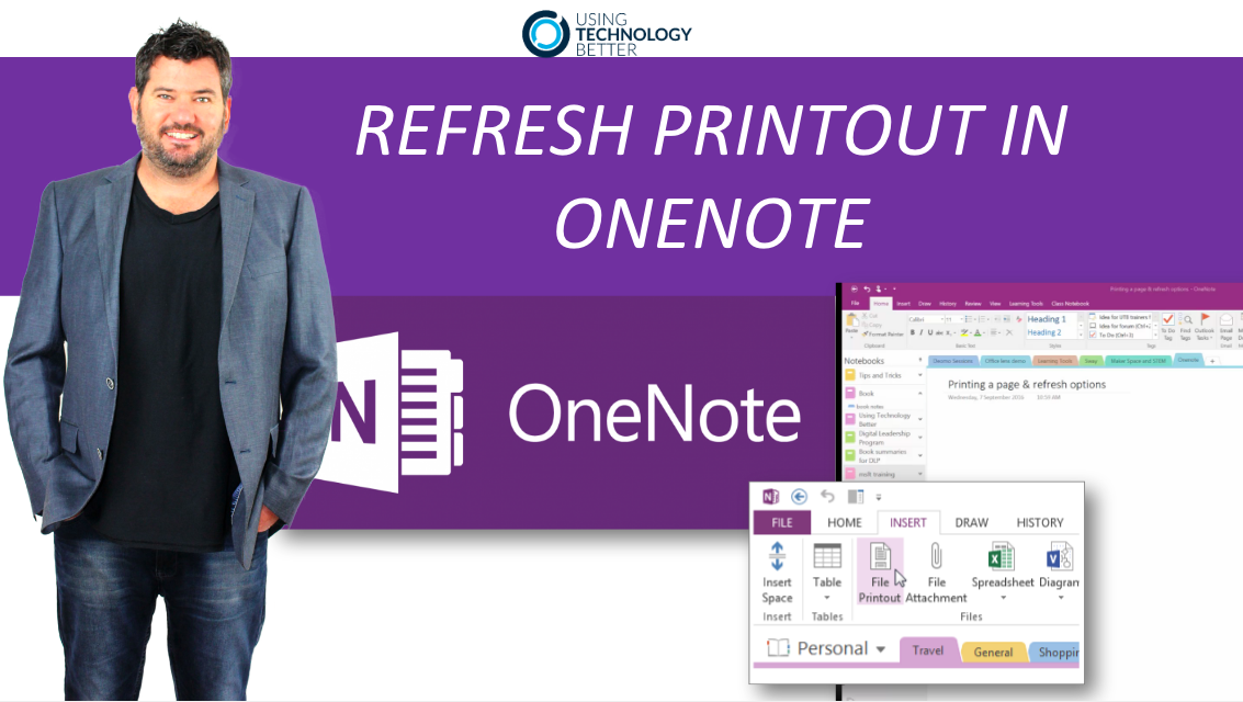 How to refresh a printout in OneNote