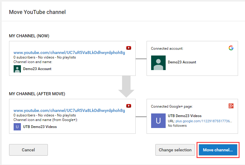 youtube move 8 - Account Technology
