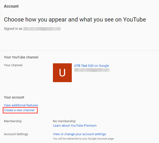 How to move a YouTube channel to another Google account - Using