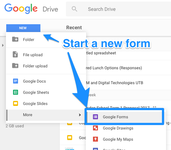 how to add a section of google forms