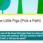 How to use Google Forms  to make a 'Choose your own Adventure' book