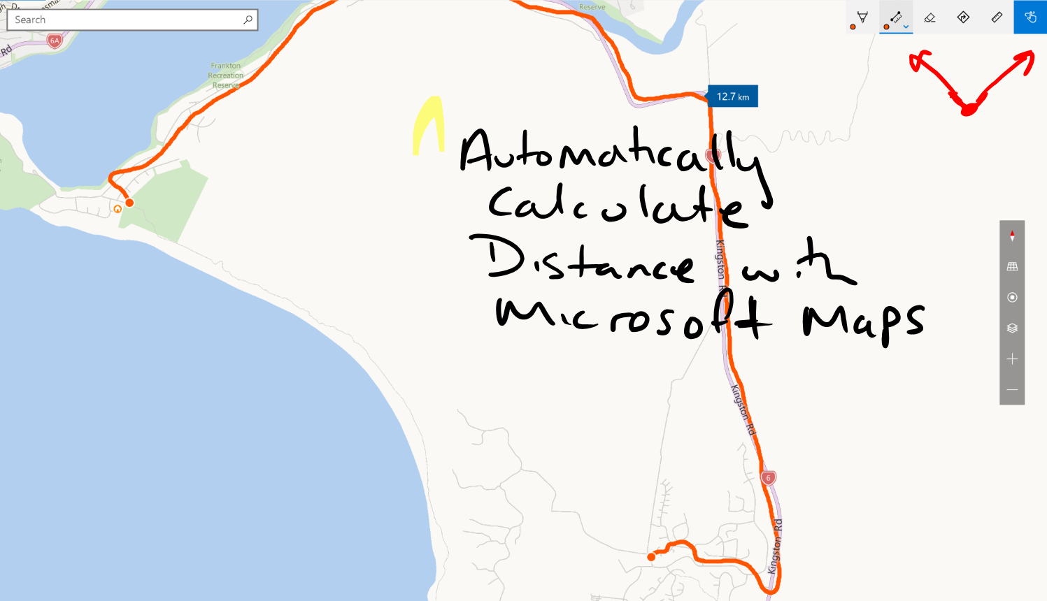 microsoft maps - calculating distance