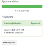 Approval workflows in Google Docs & Sheets