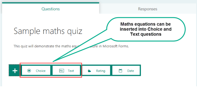 Insert Maths Equations Into Microsoft Forms Using Technology Better
