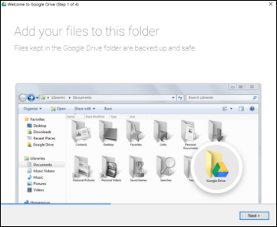 Synchronise your Google Drive files to your computer