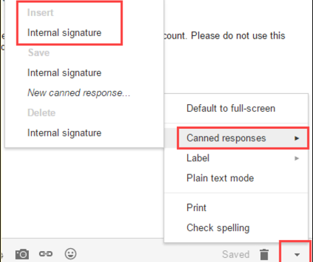 Create multiple signatures in Gmail
