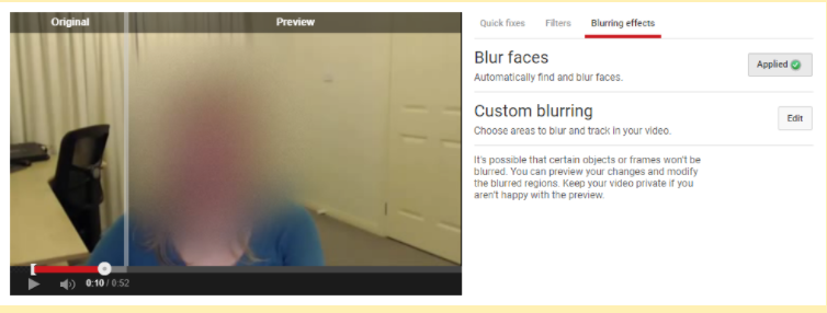 How to blur faces in YouTube videos