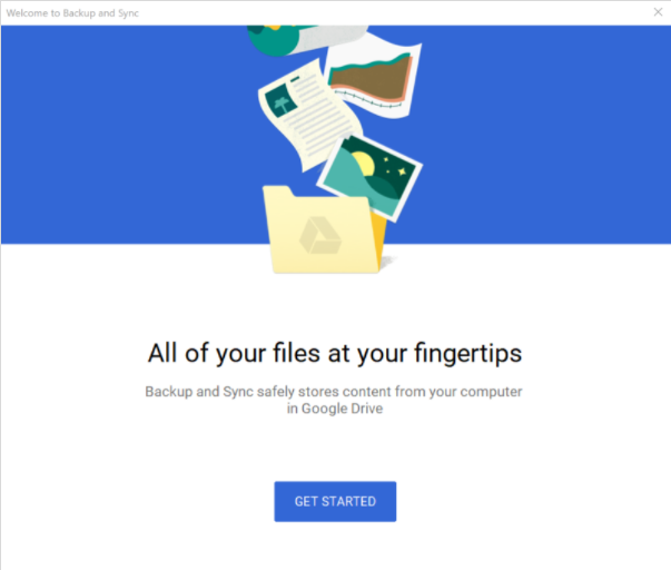 Getting started with Google Drive Backup and Sync