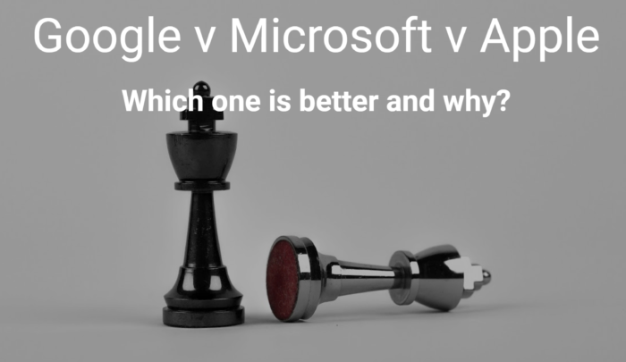 Google v Microsoft V Apple