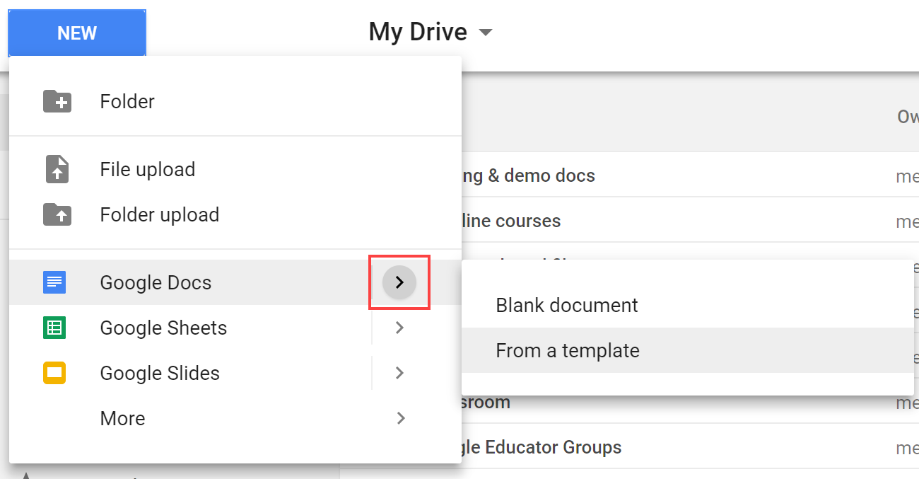 3 options for managing templates in google drive using technology
