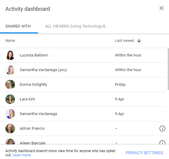 See the view history of Google Docs, Sheets & Slides - Using