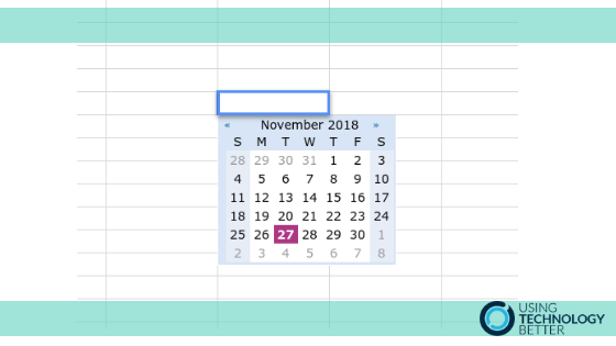 How to get a date picker in a Google Sheets cell