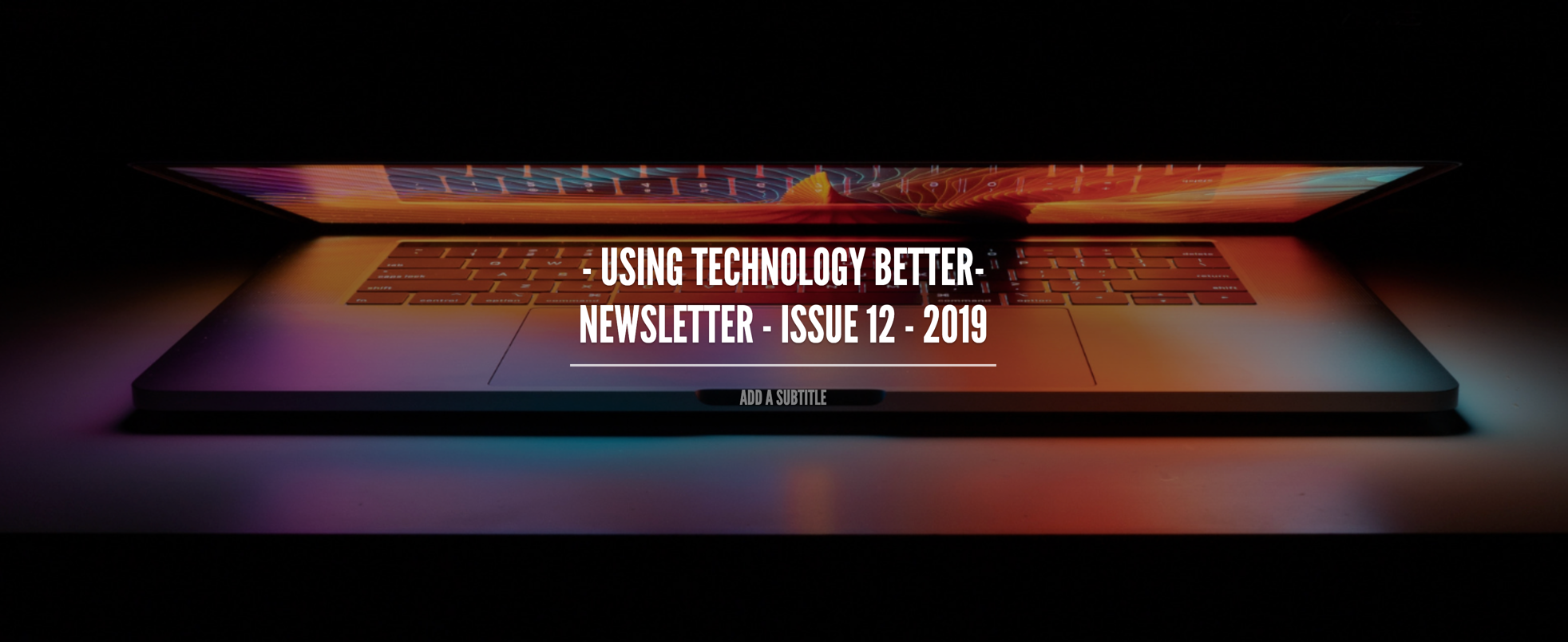 UTB Newsletter - Issue 12