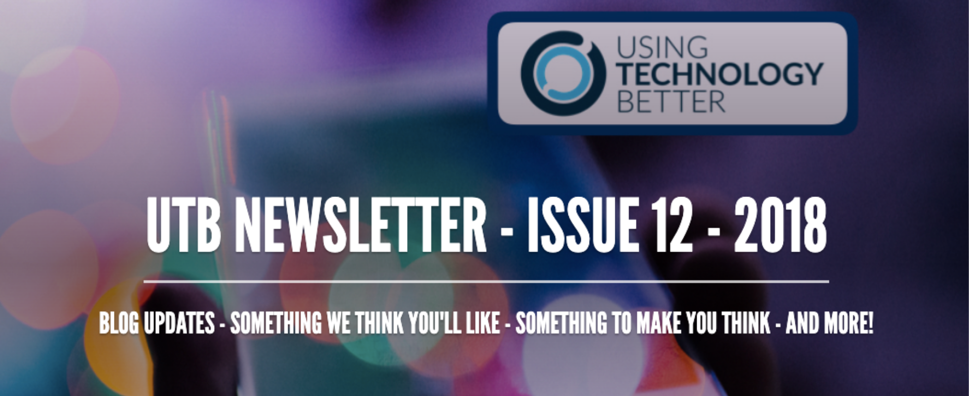 Newsletter Issue 12 - 2018