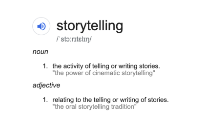 Don't write your stories - create them