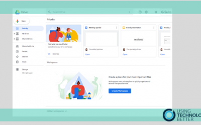 Organise your files with the Google Drive Priority page