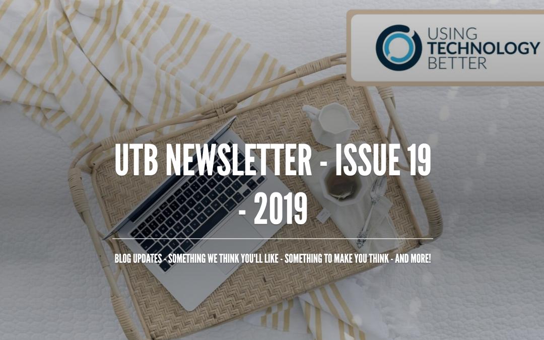 UTB Newsletter – Issue 19 – 2019
