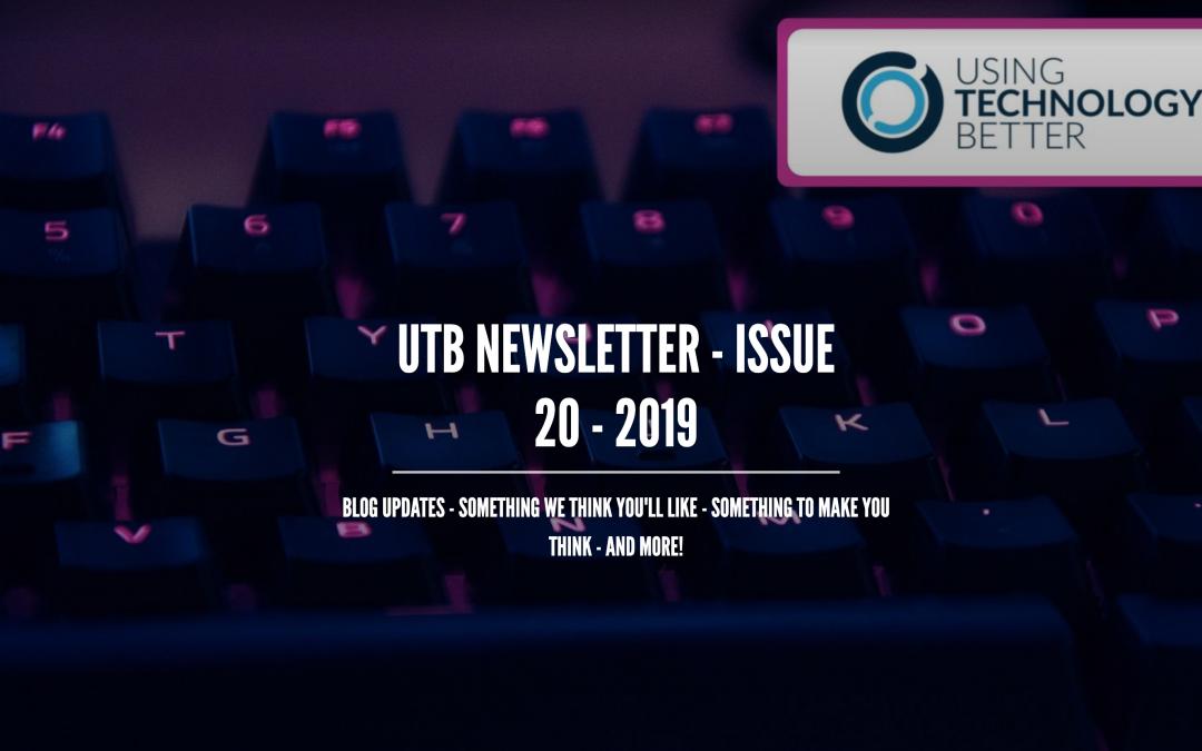 UTB Newsletter – Issue 20 – 2019