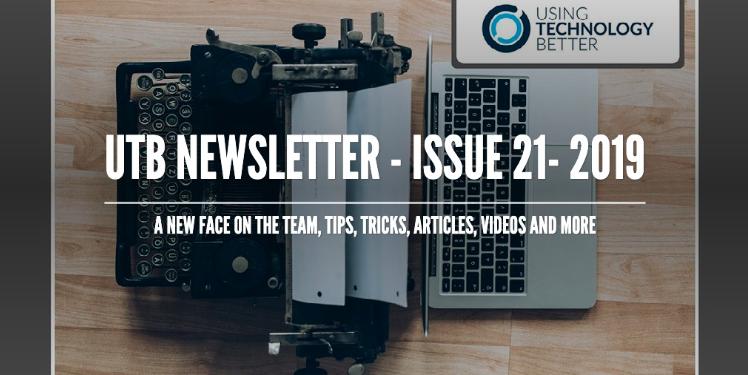UTB Newsletter – Issue 21 2019