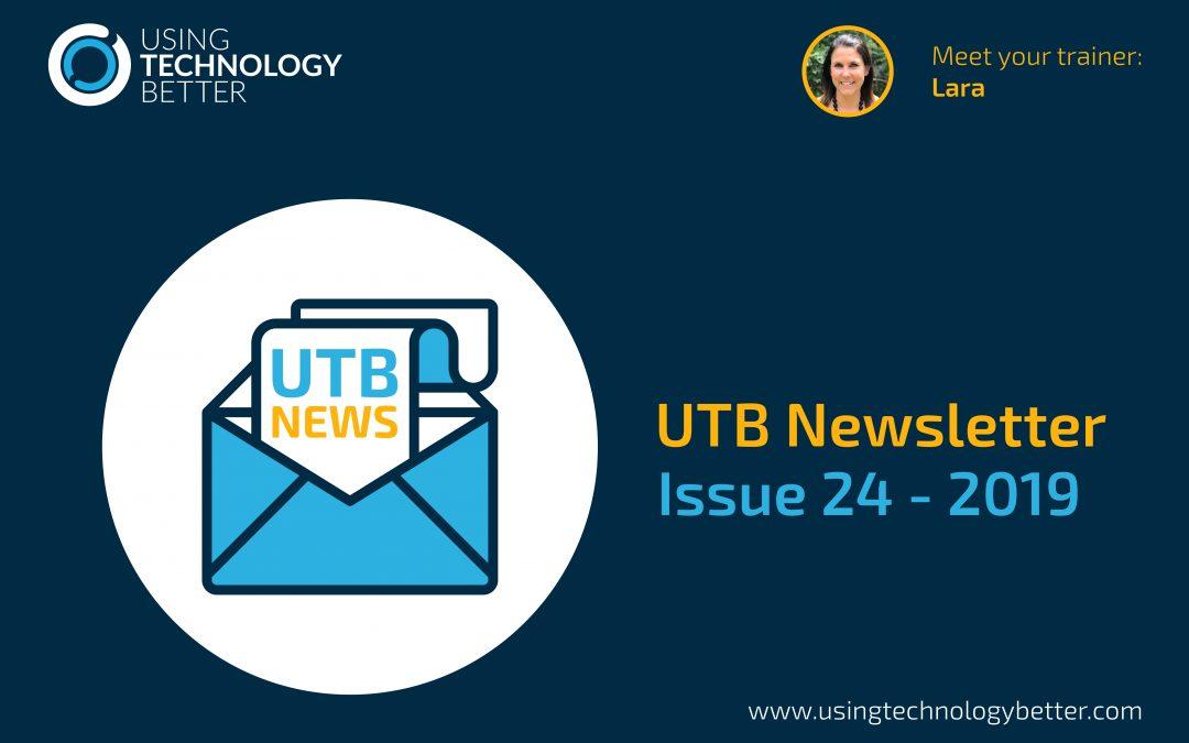 UTB Newsletter 2019 – Issue 24